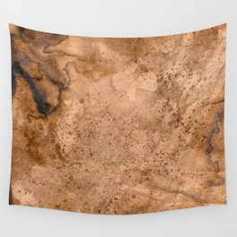 Acrylic Coffee Stained Paper Wall Tapestry