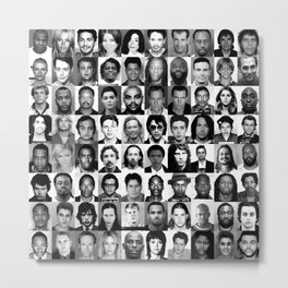 Celebrity Mugshots - Black & White Metal Print