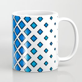 Diamonds Large to Small - Blue Coffee Mug