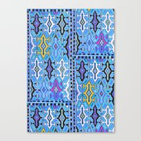 kilim Canvas Prints featuring Aztec Kilim by EllaJo Design