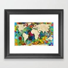 World Map - 6 Framed Art Print