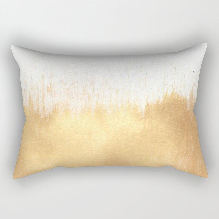 Brushed Gold Rechteckiges Kissen