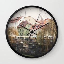 Ljubljana landscape Wall Clock