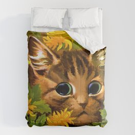 "Louis Wain's Cats ""Tabby in the Marigolds"" Comforters"