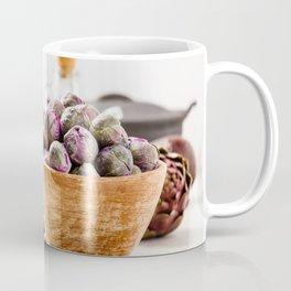 Fresh organic purple fruits and vegetables Coffee Mug