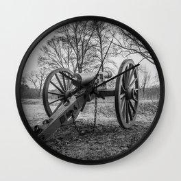 Spotsylvania Virginia Historic Artillery Black and White Fine Art Photography Civil War Wall Clock