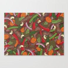Beef Stir Fry Canvas Print