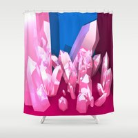 crystals Shower Curtains featuring Crystals by Katrina Zenshin