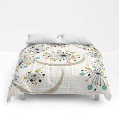 Mid Century Modern Starbursts 1a Comforters