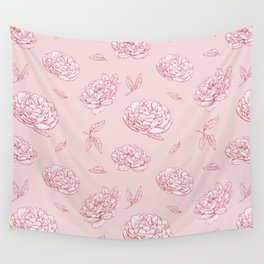 Pink Peony Wall Tapestry