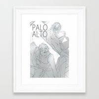hetalia Framed Art Prints featuring hetalia rusAme palo alto by Hellacrappy