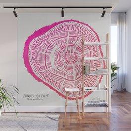 Ponderosa Pine – Pink Ombré Palette Wall Mural