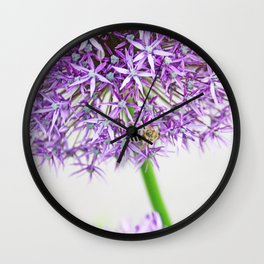 Be a Bee and be Free Wall Clock