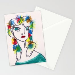 Flora in Her Hair Stationery Cards