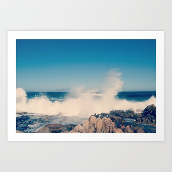 Wave after wave Art Print