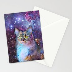 Proud Cat With Space Background                                                                   Stationery Cards