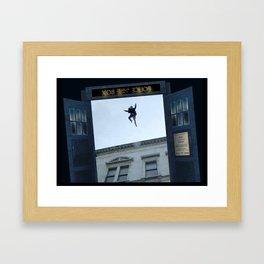 Tardis Jump Framed Art Print
