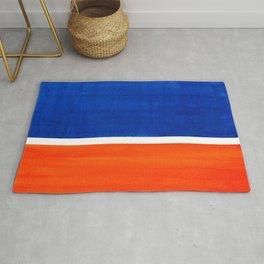 Colorful Bright Minimalist Rothko Orange And Blue Midcentury Modern Art Vintage Pop Art Rug