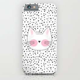 Pink Cheek Kitty Cat Retro Style iPhone Case