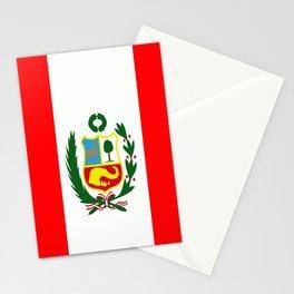 Flag of Peru Stationery Cards