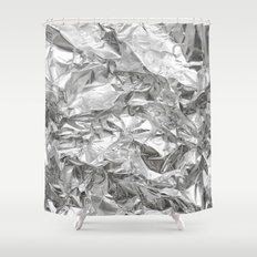 Silver Shower Curtain