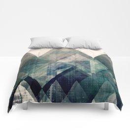 Mountains print, Abstract print, geometric wall art, abstract mountain, minimalist art, modern art, Comforters