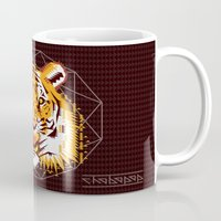 thundercats Mugs featuring Geometric Tiger by chobopop