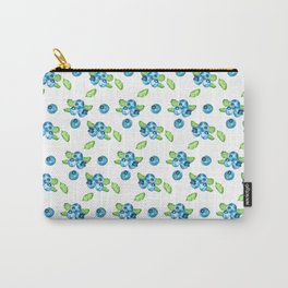 Blueberry Watercolour Pattern Carry-All Pouch