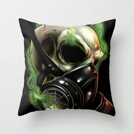 Skull/Gas mask 12 Throw Pillow