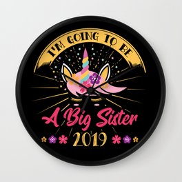 BIG SISTER: Going To Be A Big Sister 2019 Announcement Pregnancy Daughter Wall Clock