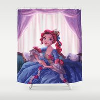 lady Shower Curtains featuring Lady by Miss Holly