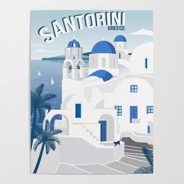Vintage Santorini poster Poster