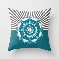 Don't Mess With Your Rising Sun (Teal) Throw Pillow