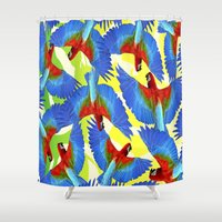 rio Shower Curtains featuring RIO PANTS PARTY by Chrisb Marquez