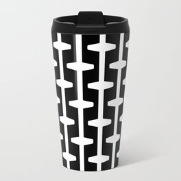 Geometric Pattern #207 (black white) Travel Mug
