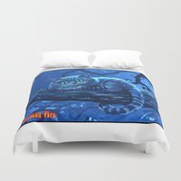 cheshire Duvet Covers featuring Cheshire Cat by Tom C Carlton