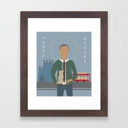 Mr. Rogers Icon Framed Art Print