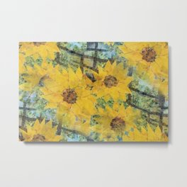 """""""Sunflowers In The Mist"""" Metal Print"""