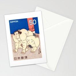 1978 JAPAN Sumo Wrestler Postage Stamp Stationery Cards