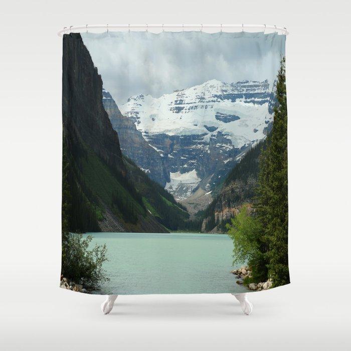 Peaceful Lake Louise Shower Curtain