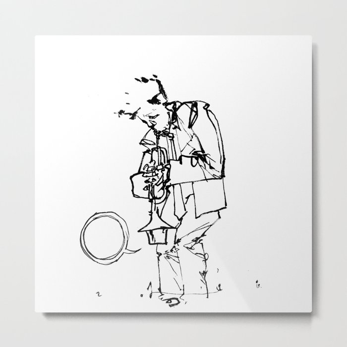 the trumpeter Metal Print