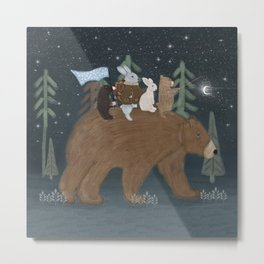 the moon bear Metal Print