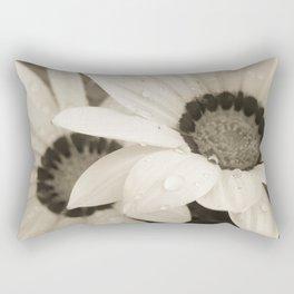 Black & White Gazanias Rectangular Pillow