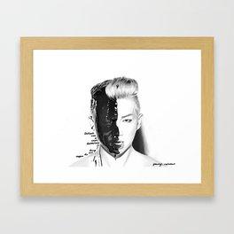 Rap Monster Framed Art Print