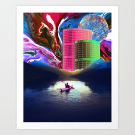 """Follow the Lights, They Lead to Something"" Art Print"