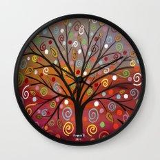 Abstract tree-10 Wall Clock