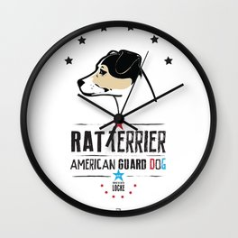 Rat Terrier: American Guard Dog Wall Clock
