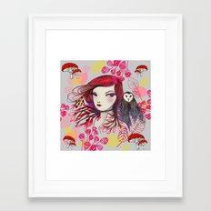 Red Owl Gal Framed Art Print