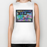 periodic table Biker Tanks featuring periodic table of elements by Bekim ART