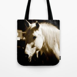 White Horse-Sepia Tote Bag